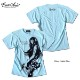 Anarchist JAPAN x EVERSOUL Tシャツ メンズ ガールプリント 半袖 スナイパー ピストル 女の子柄 キャラクター ホワイト 白 ラメ 杢グレー ブルー