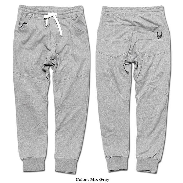 EVERSOUL スウェットパンツ メンズ 切替 裏毛 スウェット パンツ ダンス 衣装 杢グレー ブラック