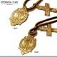 EVERSOUL ネックレス メンズ 聖母マリア 鹿革 ディアスキン 十字架 クロス アクセサリー