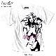 AnarchistJAPAN X EVERSOUL Tシャツ メンズ ガールプリント 半袖 ヌード 女の子柄 キャラクター ホワイト 白 ラメ 杢グレー ピンク tシャツ