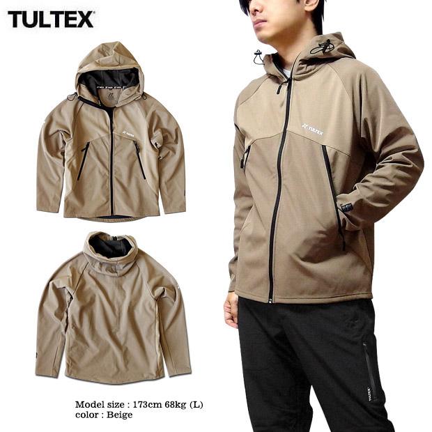 TULTEX 裏フリース 防風 ジャケット ブルゾン アウター メンズ マウンテンパーカー ボンディング 秋 冬 ウォーキング
