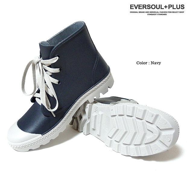 EVERSOUL PLUS SELECT レインシューズ 防水 レディース スニーカー レインブーツ 長靴 ミドルカット 雨具 梅雨 ジュニア 子供 女児 女の子 22cm 23cm 24cm 25cm 26cm