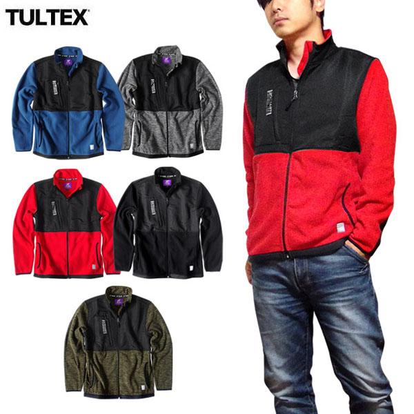 TULTEX フリースジャケット メンズ フリース ジップアップ ブルゾン ジャケット 秋 冬 3L アウトドア 防寒 暖かい ウォーキング