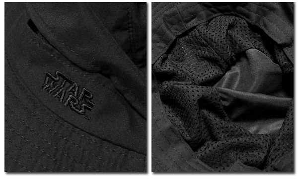 STARWARS スターウォーズ サファリハット サーフハット メンズ レディース メッシュ 日除け 帽子 ハット ぼうし アウトドア フェス つば広 ブラック 刺繍 ロゴ