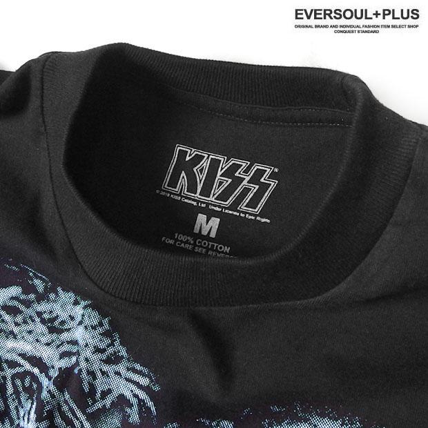 KISS キッス ロンT 長袖 Tシャツ メンズ 袖プリント 厚手 ヘビーウェイト バンドT グッズ オーバーサイズ