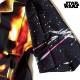 STARWARS スターウォーズ シャツ 半袖 グッズ メンズ ブラック 総柄 プリント ボタン アロハシャツ ダースベイダー アパレル