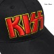 KISS キッス 帽子 ストリートキャップ メンズ ベースボールキャップ 刺繍 ロゴ グッズ ブラック