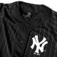 Majestic ベースボールシャツ メンズ ニューヨーク ヤンキース マジェスティック ユニフォーム メッシュ シャツ HIPHOP ストリート スポーツ ダンス 衣装 ストライプ 白 黒