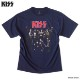 KISS キッス スカル Tシャツ ワイドシルエット オーバーサイズ ビッグTシャツ メンズ プリント バンド 半袖