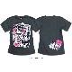 殺し屋ジョニー キャラクター プリント Tシャツ メンズ 半袖 tシャツ アメコミ  おしゃれ かわいい EVERSOUL jb  style コラボ イラスト 白 黒 ブ ラック 杢グレー