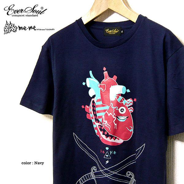 EVERSOUL タカハシヒロユキミツメ 殺し屋ジョニー キャラクター プリント Tシャツ 半袖 メンズ キッズ