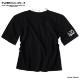 ISMxM Tシャツ カットソー 原宿系 モード系 レースアップ メンズ ワイドシルエット オーバーサイズ