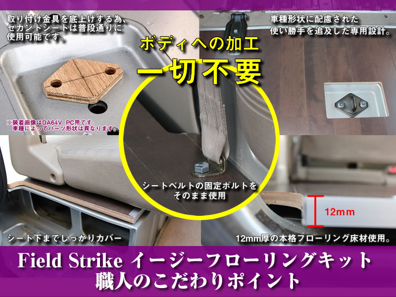 Field Strike フローリングキット エブリイバンDA64V PC/PA/PU