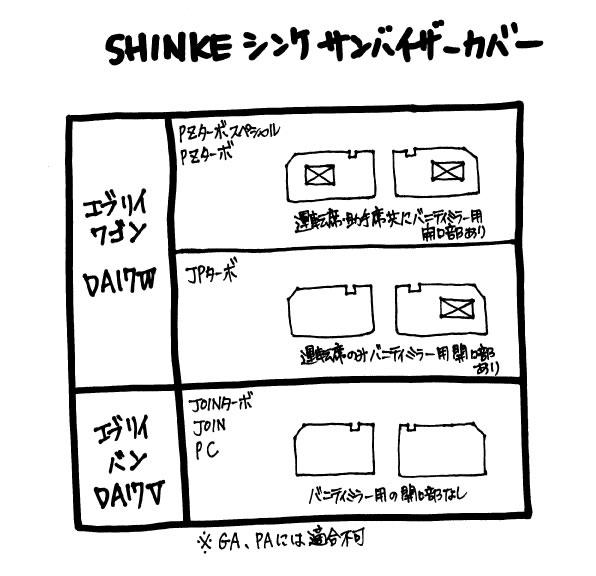SHINKE シンケ サンバイザーカバー 新型 エブリイ ワゴン DA17 W (H27/2〜) JPターボ専用