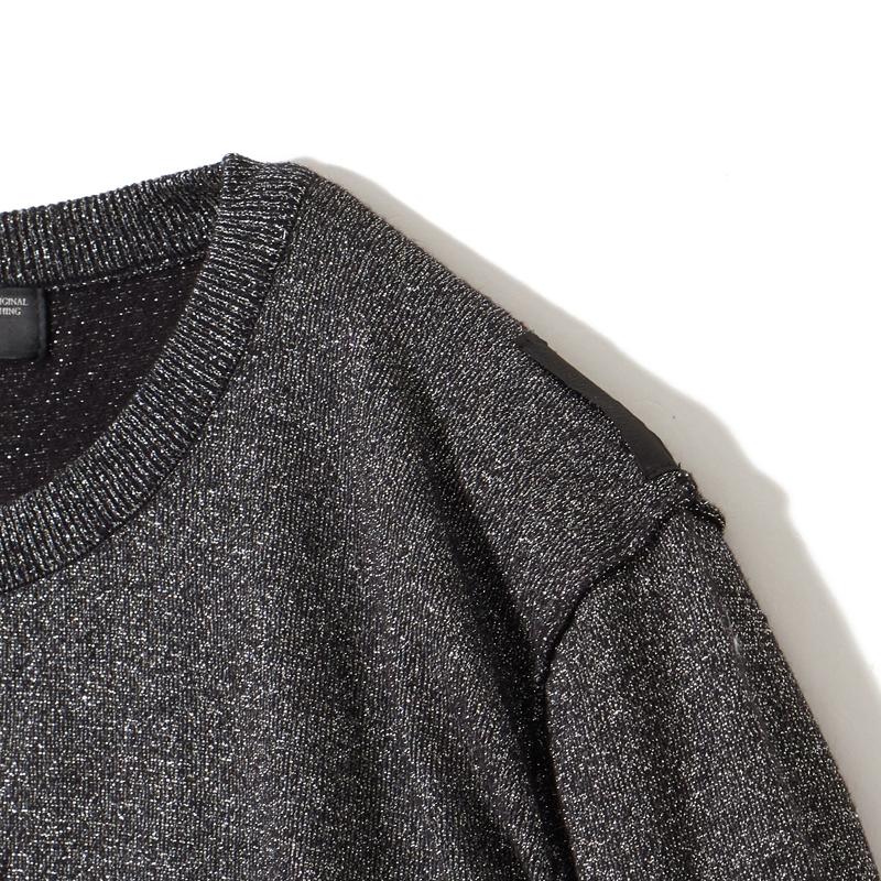 インサイドアウトグリッターセーター