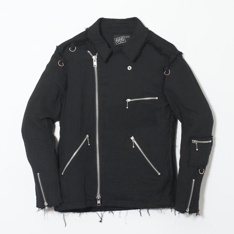 80's ジップガーゼライダースジャケット