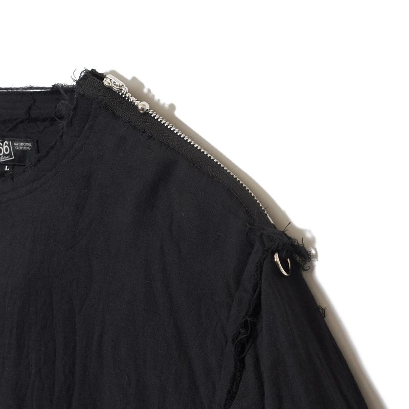 インサイドアウト ガーゼジップTシャツ長袖