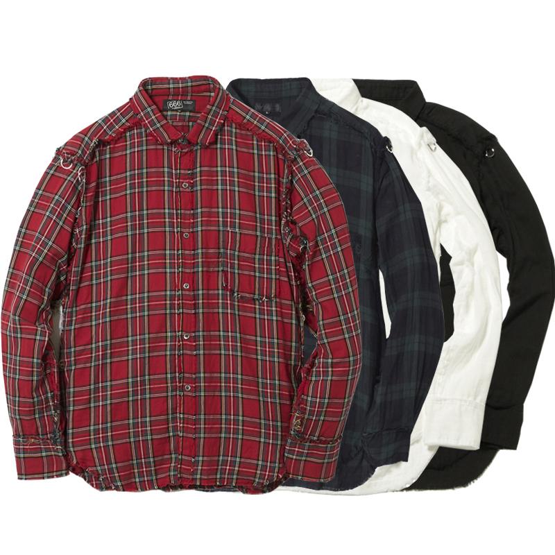 ガーゼラウンドカラーシャツ