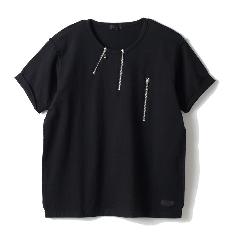 インサイドアウトジップTシャツ