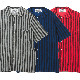 ストライプドパイル ピーターパンシャツS/S(セディショナリーズ)