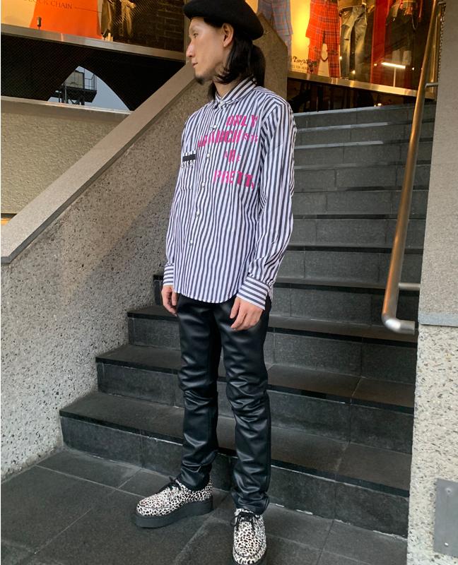"""""""1977""""キルトピンシャツ"""