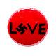 バッジ/LOVE(25mm)