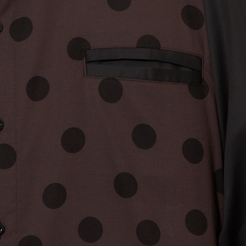 パネルフロントシャツ