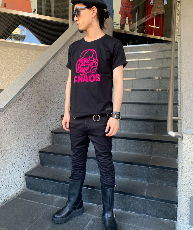 """""""1977"""" Tシャツ CHAOS SKULL"""