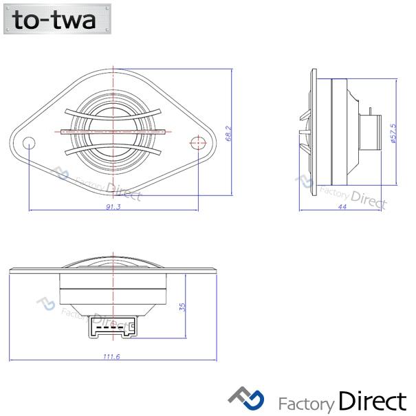 fd-to-twa08 WISH ウィッシュ(20系 H21.03-H29.11 2009.03-2017.11)※Dピラーのみトヨタ ツィーター カプラーONトレードイン(ツィーター 車 スピーカー カーオーディオ オーディオ カスタムパーツ パーツ ツイーター 自動車 )