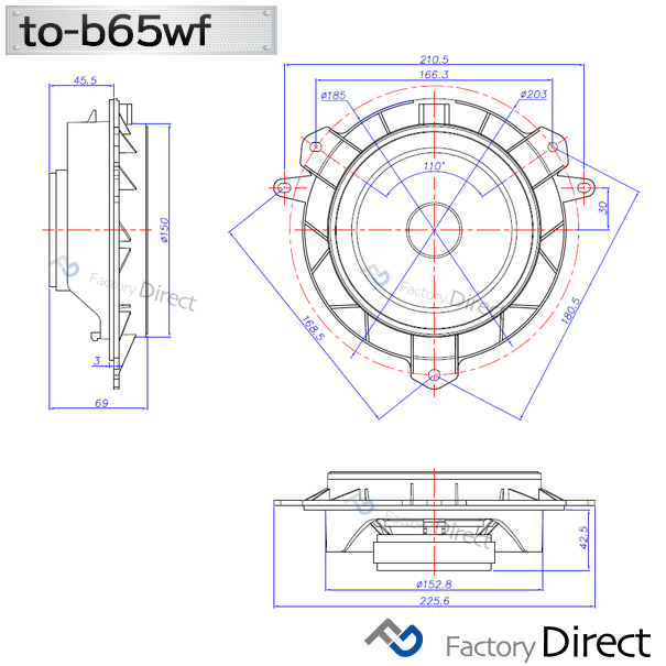 fd-to-b65wf-su05 XV(GT系 H29.04以降 2017.04以降)スバル 6.5インチ 17cmスピーカー カプラーON トレードイン( 車 スピーカー オーディオスピーカー カーステレオ カーオーディオ オーディオ カスタムパーツ パーツ 自動車 )