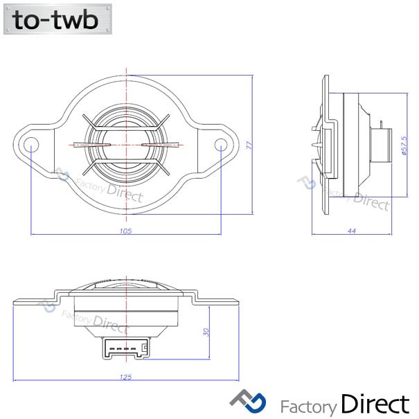 fd-to-twb84 LEGACY レガシィ(BN系 H26.10以降 2014.10以降) スバル ツィーター カプラーONトレードイン(ツィーター 車 カースピーカー スピーカー カーステレオ カーオーディオ オーディオ カスタムパーツ パーツ ツイーター 自動車 )