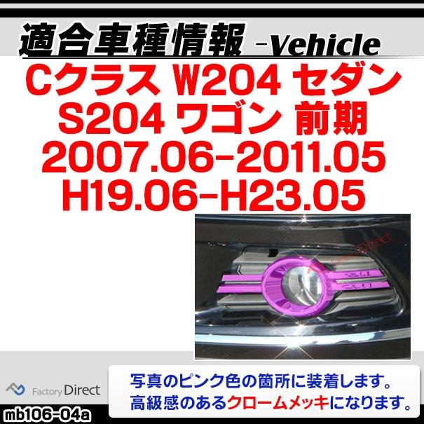 ri-mb106-04 フォグランプ用 Cクラス W204(前期 2007-2011 H19-H23)クロームメッキトリム Mercedes Benz メルセデス ベンツ ガーニッシュ カバー ( バイク用品  外装パーツ ヘッドライト )
