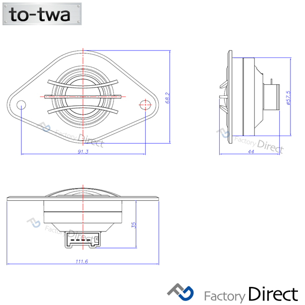 fd-to-twa-su04 LEVORG レヴォーグ(VM系 H26.04以降 2014.06以降) スバル ツィーター カプラーONトレードイン( カスタム パーツ カスタムパーツ ツイーター スピーカー カーオーディオ カー オーディオ 部品 車パーツ 車 車用品 )
