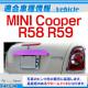 ri-mi403-10(402-10) トランクモール用 MINI Cooper ミニクーパー R58 R59 クローム メッキ ランプ トリム ガーニッシュ カバー BMW ミニ クーパー