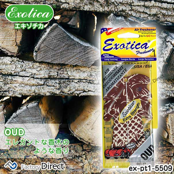Exotica Freshener(エキゾチカフレッシュナー)ex-pt1-5509 OUD(10335)EXOTICA エキゾチカ ヤシの木型 エアフレッシュナー 芳香剤 吊り下げペーパータイプ(正規輸入品)(車 カーフレグランス エアーフレッシュナー 車用芳香剤 フレグランス)