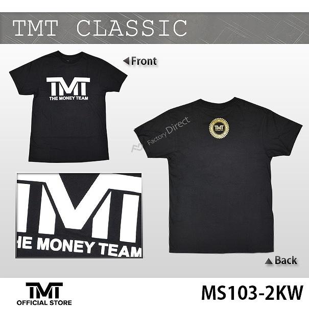 tmt-ms103-2kw THE MONEY TEAM ザ・マネーチーム TシャツTMT CLASSIC 黒ベース×白 フロイド・メイウェザー ボクシング 男性 メンズ ブラック プリント アメリカ 国旗 THE MONEY TEAM TMT WBC WBA( かっこいい 半袖 )