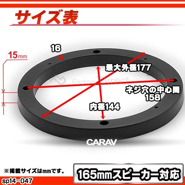 ca-sp14-047a 汎用タイプ 6.5inch 165mm ABSインナーバッフルボード スピーカーアダプター 社外スピーカー交換時に最適(カーオーディオ  車 カーパーツ)