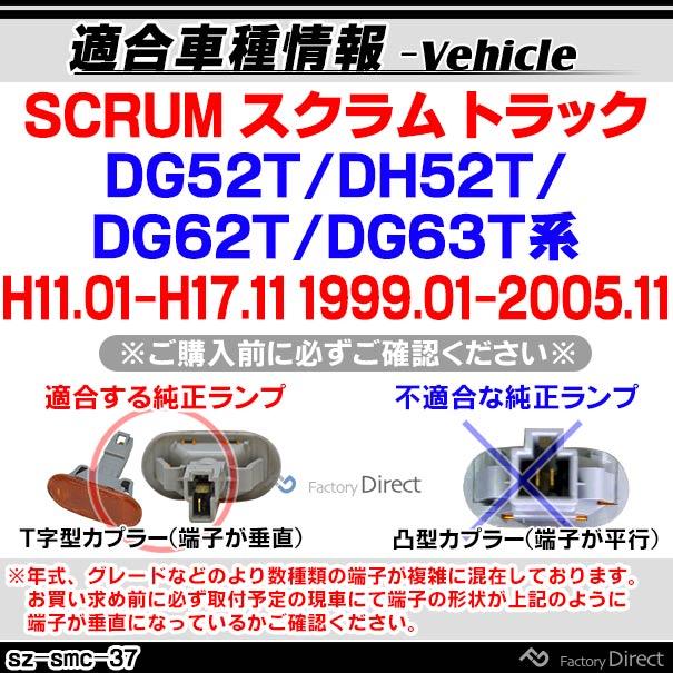 ll-sz-smc-sm37 スモークレンズ SCRUM スクラム トラック(DG52T/DH52T/DG62T/DG63T系 H11.01-H17.11 1999.01-2005.11)サイドマーカー ウインカーランプ ( カスタム パーツ 車 ウインカー ウィンカー ライト カスタムパーツ 自動車 部品 )
