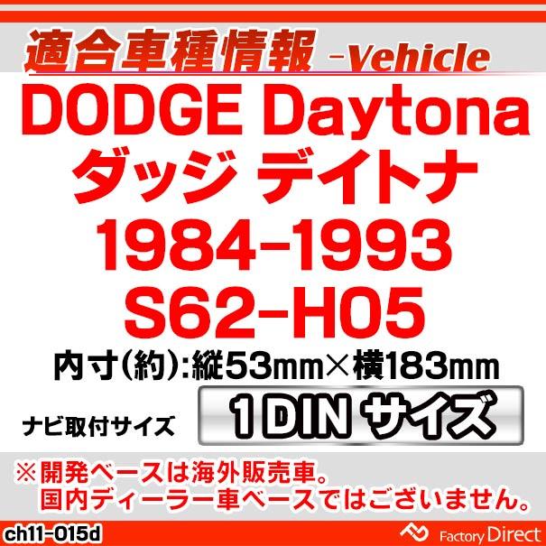 ca-ch11-015d DODGE Daytona ダッジ デイトナ(1984-1993)AVインストールキット ナビ取付フレーム(オーディオ取付フレーム ナビフレーム AVインストール カーステレオ ナビ取付キット カー用品)