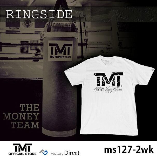 tmt-ms127-2wk ザ・マネーチーム Tシャツ RINGSIDE 白ベース×黒ロゴ フロイド・メイウェザー ボクシング メンズ ホワイト プリント アメリカ THE MONEY TEAM TMT WBC WBA( スポーツ スポーツtシャツ 半袖tシャツ グッズ boxing )