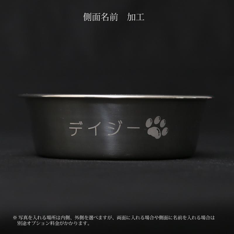 犬猫ウサギ 名前入り ステンレス製フードボウル Mサイズ