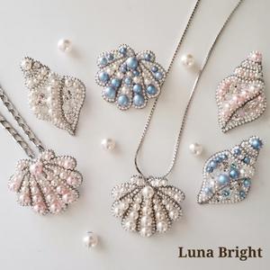 LunaBright(ルナブライト)【貝型ブローチ】9202008◆即日発送OK◆