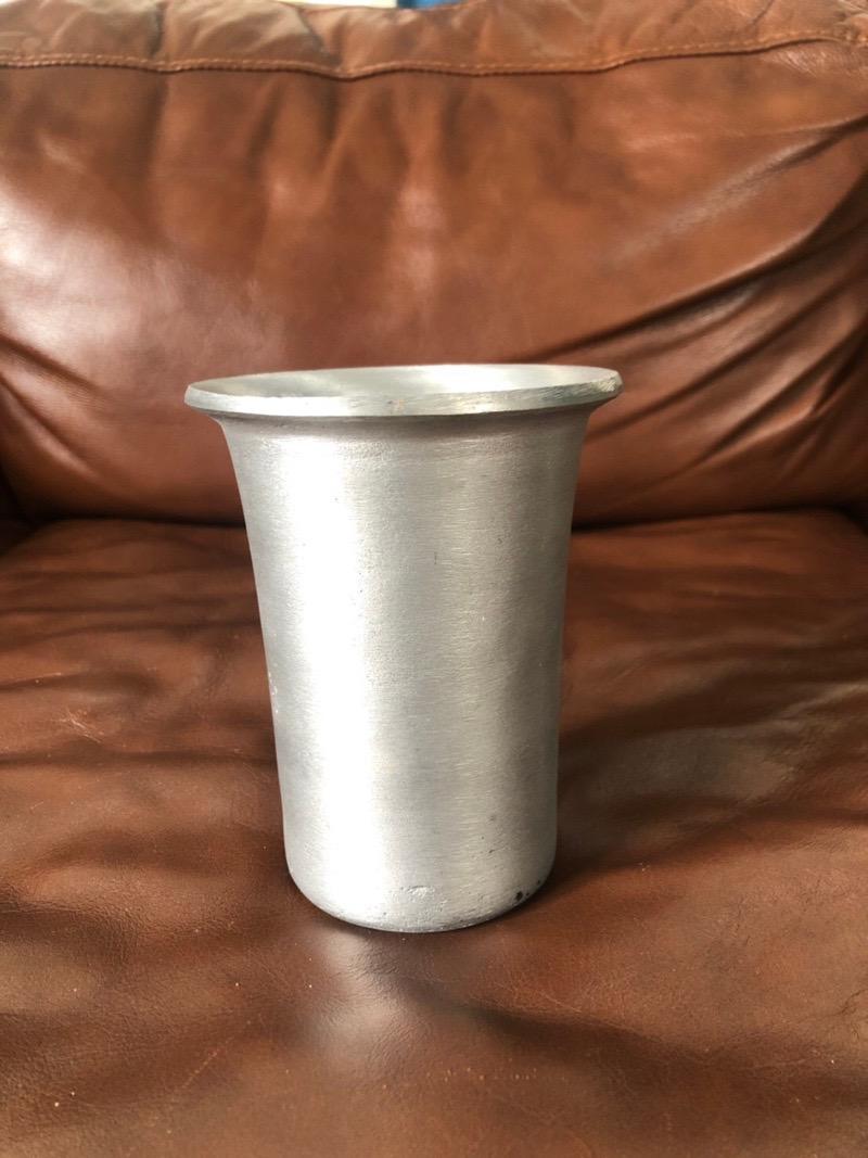 シリンダー鉢(シルバー)