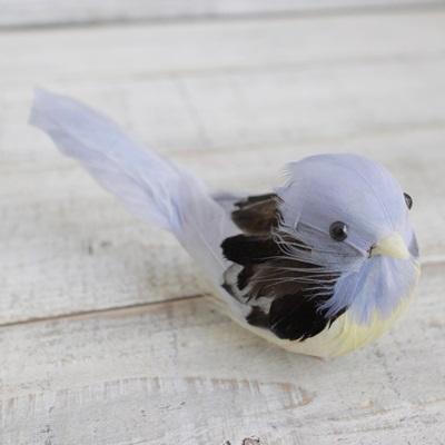 ぷっくりおなかの小鳥さん(ブルー)