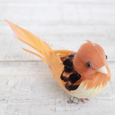 ぷっくりおなかの小鳥さん(オレンジ)