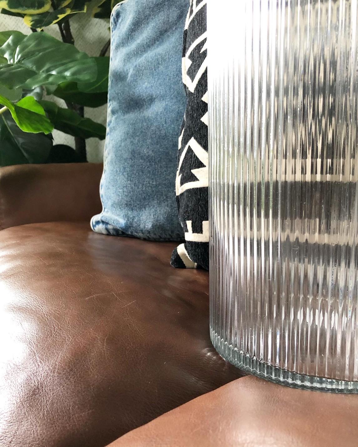 しましまガラス瓶(高さ29.5cm)