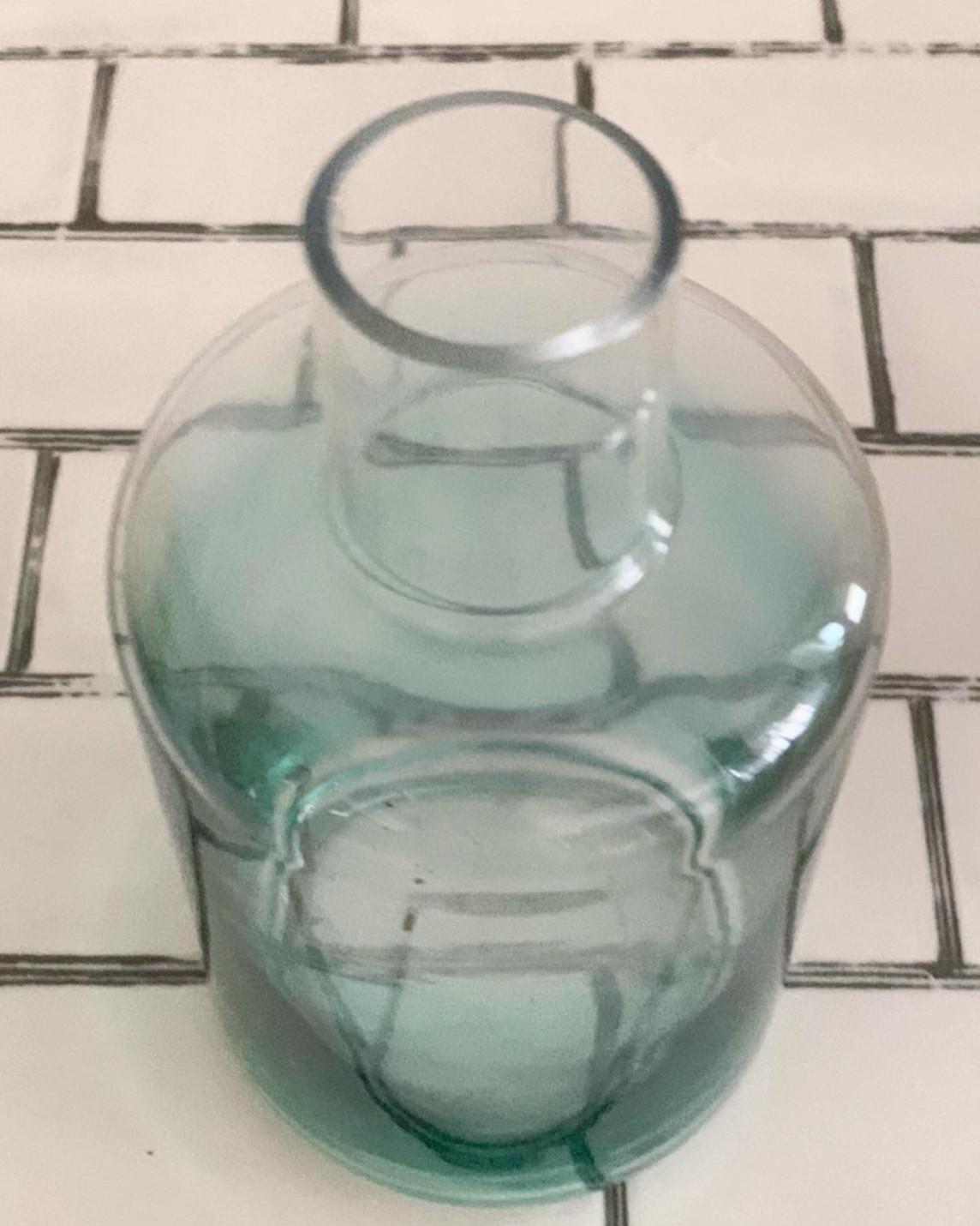 ブルーグラデのガラス瓶(高さ19.5�)