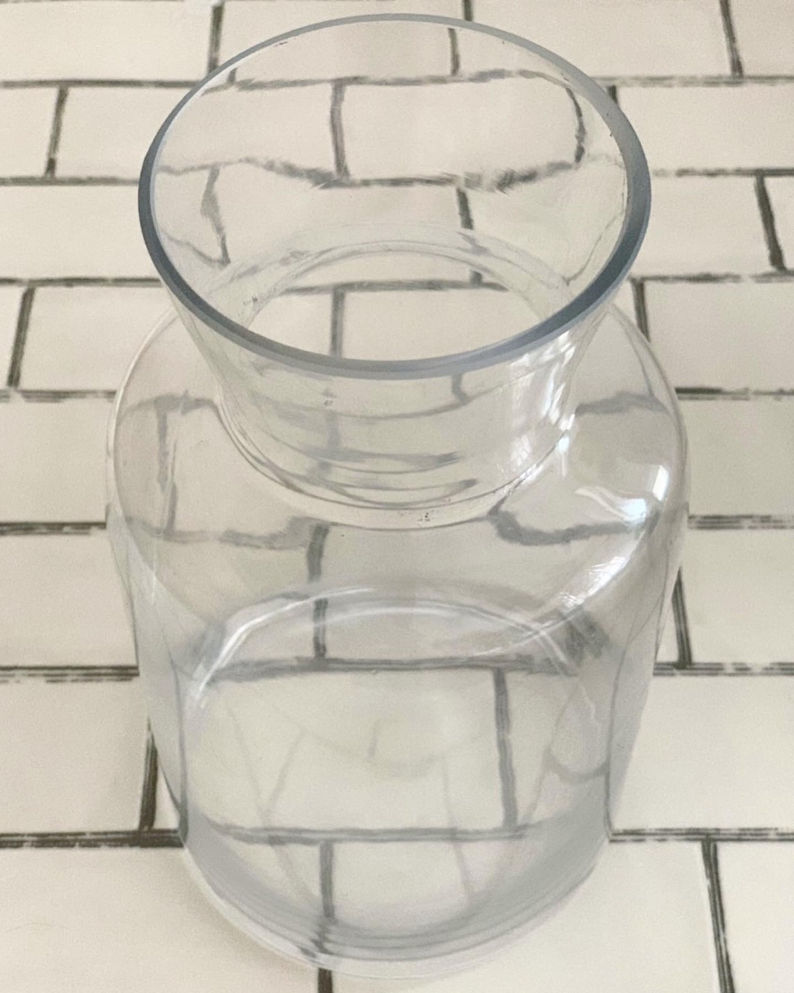 くびれガラス瓶(高さ26cm)