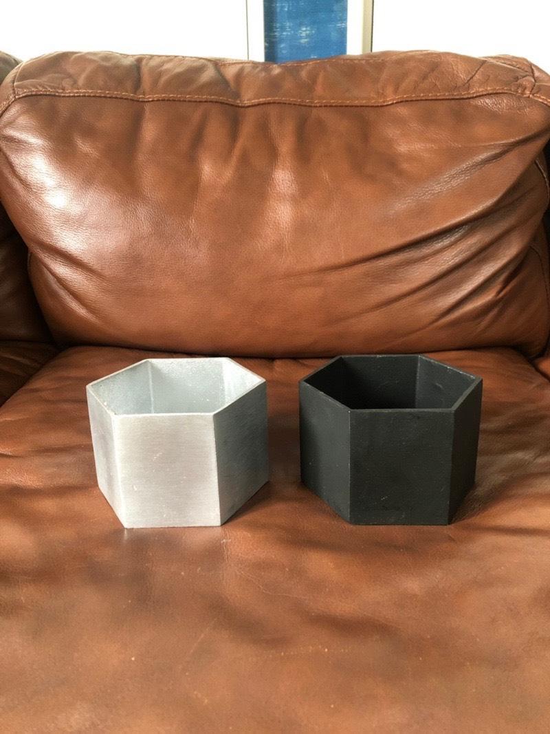 5角形の鉢 (ブラック)
