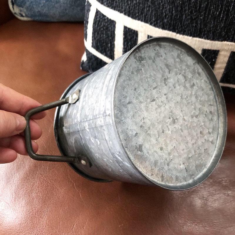 ブリキ鉢カバーS
